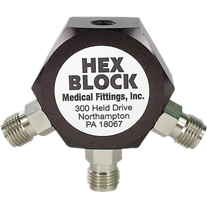 "Hex Block with 1/8"" NPT Female Inlet"