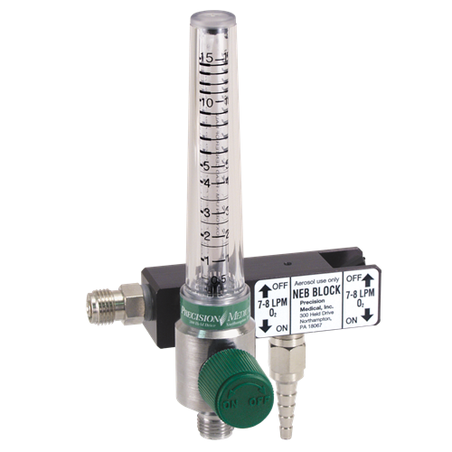 Neb Block with Chrome Flowmeter